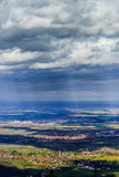 Panoramic overview to Alsace from abbey Mont Saint Odile. Spring Stock Images