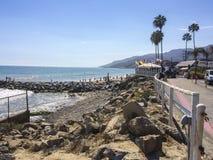 Panoramic pacific ocean view. Malibu, CA. USA Stock Photography