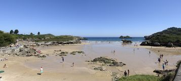 Beach of the Palombina in Celorio Llanes, Asturias stock image