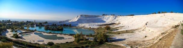 Panoramic Pamukkale View Royalty Free Stock Photo