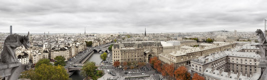 Panoramic of Paris Royalty Free Stock Photography