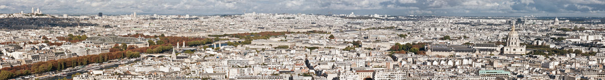 Panoramic of Paris Stock Photo
