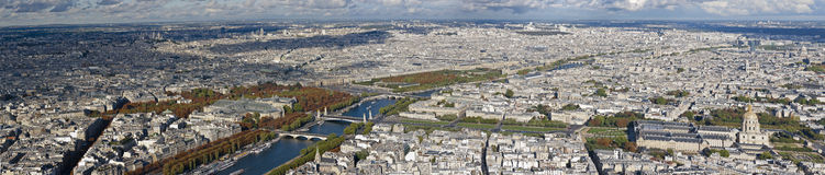 Panoramic of Paris Stock Image