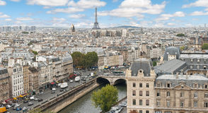 Panoramic of Paris Stock Photos