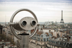 Panoramic of Paris Stock Photo