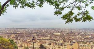 Panoramic Paris Skyline Royalty Free Stock Photography