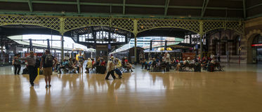 Panoramic Passengers Central station Sydney Australia Stock Image