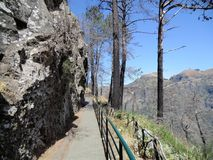 Panoramic path in the mountains of Madeira Stock Photo