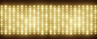 Panoramic pciture of tiny light bulbs Royalty Free Stock Photography