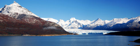 Panoramic Perito Moreno. Landscape of Perito Moreno in El Calafate (Argentina Stock Photo