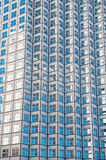 Panoramic and perspective wide angle view to steel blue background of glass Stock Photo
