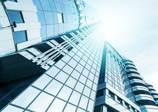 Panoramic and perspective wide angle view to steel Royalty Free Stock Images
