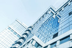 Panoramic and perspective wide angle view to steel Royalty Free Stock Photos