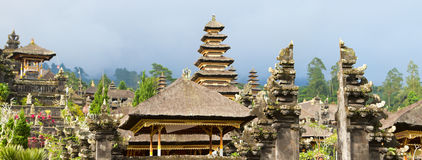 Panoramic photo of Besakih temple complex Royalty Free Stock Photo