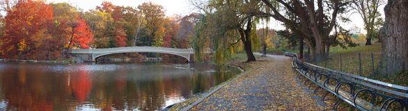 Panoramic photo of bow bridge Royalty Free Stock Photo