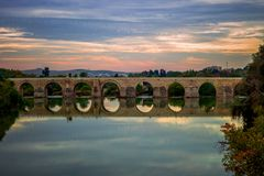 Panoramic Photo of Bridge royalty free stock images