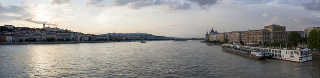 Panoramic photo of Budapest. View from Liberty Bridge stock images