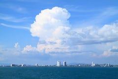 Panoramic photo of the city Pattaya Stock Photos