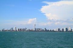Panoramic photo of the city Pattaya Royalty Free Stock Photo
