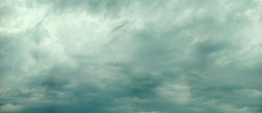 Panoramic photo of cloudy sky Royalty Free Stock Image