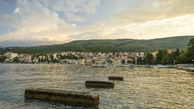 A panoramic photo from Crikvenica , Croatia Stock Image