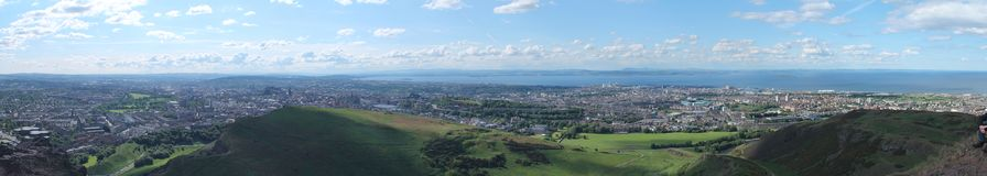 Panoramic photo of Edinburgh Royalty Free Stock Photo