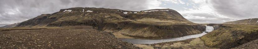 Thorufoss Þórufoss Waterfall Pano stock images