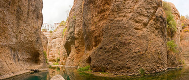 Panoramic photo of the Guadalevin river. Stock Photography