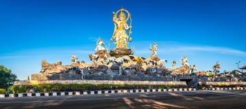 Panoramic photo Hindu traditional architecture Stock Image