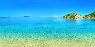 Panoramic photo of Ithaca beach Greece Royalty Free Stock Photography