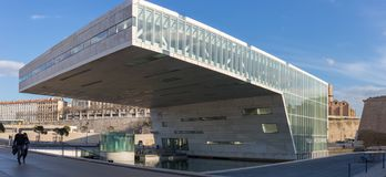 Panoramic Photo of Mucem Marseille - france Stock Photography