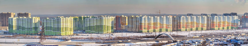Panoramic photo, new residential area in north city, Saint-Peter Royalty Free Stock Photos