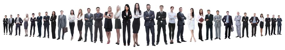 Free Panoramic Photo Of A Group Of Confident Business People. Stock Images - 194385074