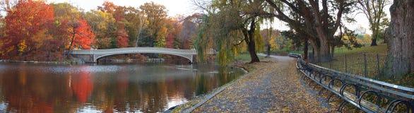 Panoramic Photo Of Bow Bridge Royalty Free Stock Photo