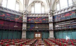 Panoramic Photo Of The Interior Of The Historic Octagon Library At Queen Mary, University Of London, Mile End UK. Stock Image