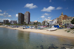 Panoramic photo of Palamos in Costa Brava,Catalonia,Spain Stock Image