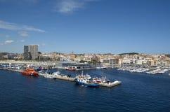 Panoramic photo of  Palamos in Costa Brava,Catalonia,Spain Royalty Free Stock Images