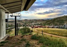 Panoramic Photo of Park City Utah Stock Photos