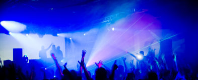Panoramic photo of people concert Royalty Free Stock Photos