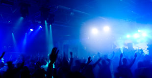 Panoramic photo of people at the concert Royalty Free Stock Photos