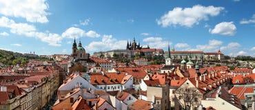 Panoramic photo of Prague Castle Stock Photos