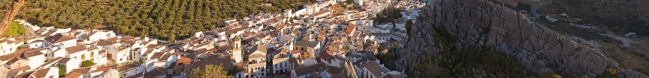 Panoramic photo of the pueblo blanco Montejaque. Royalty Free Stock Photography