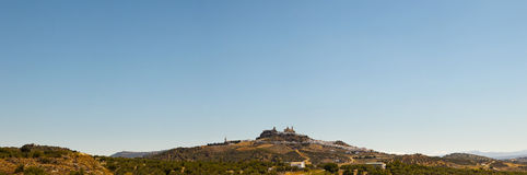 Panoramic photo of the pueblos blancos Olvera. Stock Photography