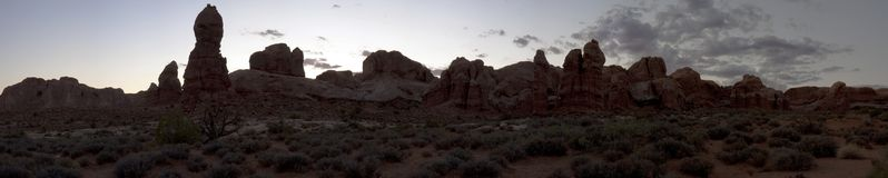 Panoramic Photo Of Rock Formations Royalty Free Stock Images