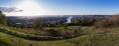 Panoramic photo of Rouen - France Stock Image