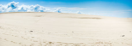 Panoramic photo of sand desert Royalty Free Stock Photos