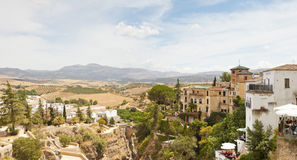 Panoramic photo of the spanish city Ronda. Stock Photography