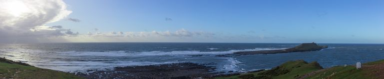 Panoramic Photo of  Sunny day on Worm head Stock Photos