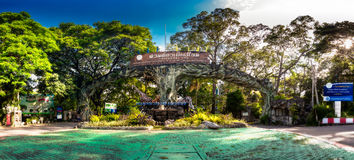 Panoramic photo Thailand Chiang Mai Zoo & Aquarium. CHIANG MAI, THAILAND - NOV 1, 2015: Panoramic photo one of main tourist attractions in northern Thailand Stock Photos