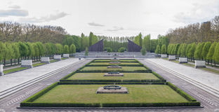 Panoramic photo of Treptower Park, Berlin Stock Photography